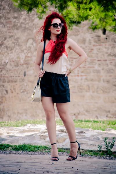 Zara shorts - Prada sunglasses - asos top