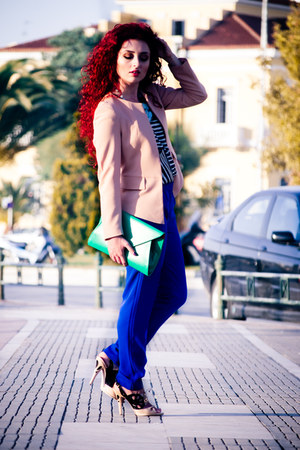 Sheinside blazer - Miu Miu shoes - Massimo Dutti pants