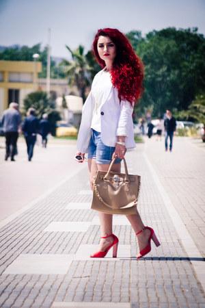 OASAP bag - Badgley Mischka shoes - Mango shorts - Zara blouse
