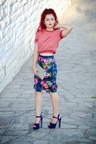 Zara skirt - Steve Madden shoes - vintage blouse