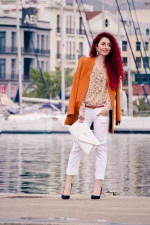 white Miss Sixty jeans - tawny Zara blazer