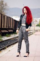 Choies jacket - Zara pants - Christian Louboutin pumps - Michael Kors watch