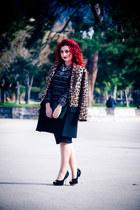 bronze Zara coat - black OASAP top
