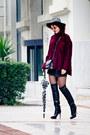 Black-gianvito-rossi-boots-maroon-choies-sweater-silver-mango-bag