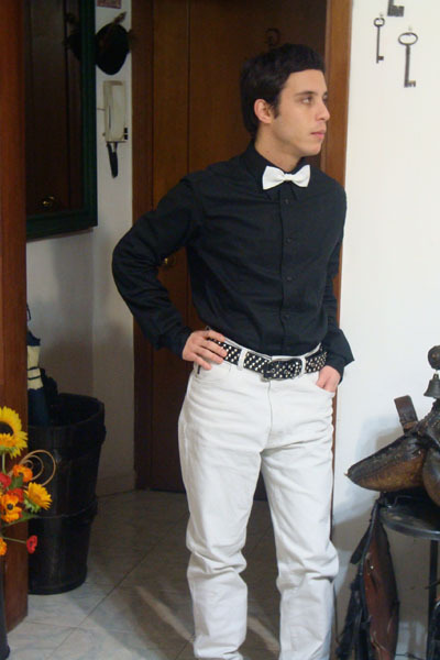 10 start of this eventful evening his prince charming bxb for Black shirt and black tie