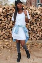 Zara hat - vera wang boots - Theyskens shirt