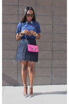 Jcrew heels - PROENZA SCHOULER bag - Jcrew skirt - madewell top