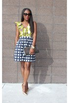 banana republic skirt - Yves Saint Laurent bag - Jcrew heels - Zara blouse