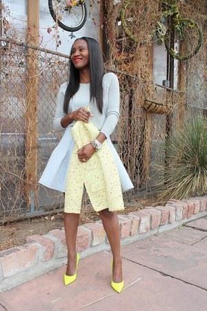 Jcrew jacket - Jcrew sweater - asos skirt - Valentino heels