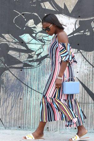 storets dress - mark cross bag - Prada sunglasses - kate spade sandals