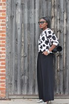 kara bag - Tom Ford sunglasses - Jcrew heels - cameo pants