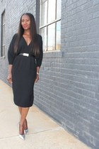 Dress dress - Belt leggings - metallic heels