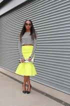 asos skirt - Dolce & Gabbana bag - coach heels - Zara top