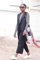lafayette 148 scarf - balenciaga bag - Zara t-shirt - lafayette 148 vest