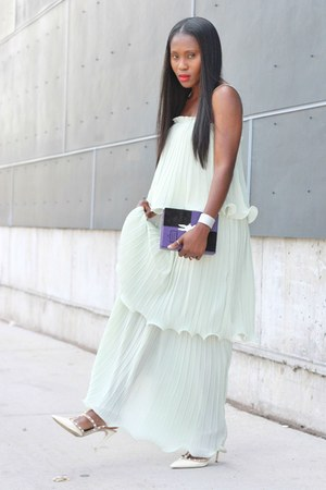 Valentino shoes - asos dress - Olympian Le Tan bag - baublebar bracelet
