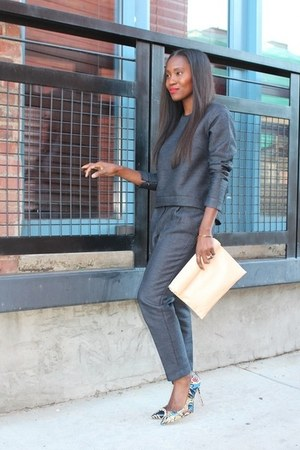 black Celine bag - Jcrew shoes - Celine sunglasses - asos pants - asos top