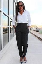 Theory shirt - Yves Saint Laurent bag - Zara pants - Jcrew heels