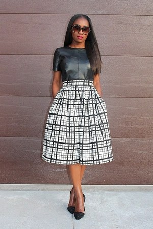 asos skirt - coach heels