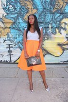 Givenchy bag - Topshop skirt - metallic heels