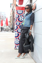 vida jacket - Chanel bag - Jcrew pants - Jcrew vest