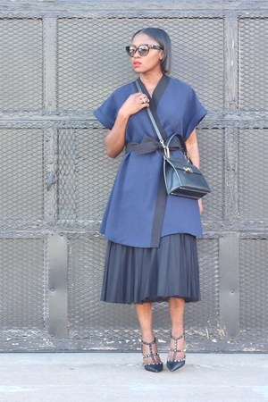 asos skirt - lavish alice dress - balenciaga bag - Prada sunglasses