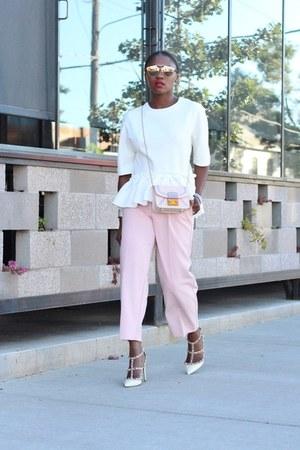 Valentino shoes - Furla bag - dior sunglasses - Nordstrom Crop pants