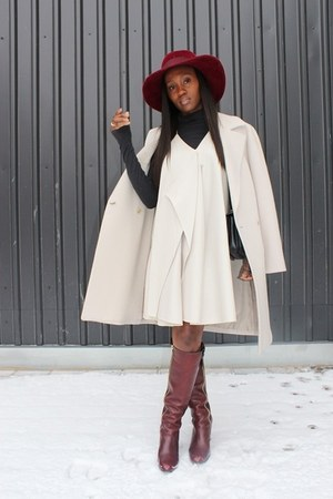 Hugo Boss coat - Chloe boots - 31 Phillip Lim dress - Marni bag