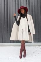 Hugo Boss coat - Chloe boots - 31 Phillip Lim dress - Marni bag