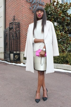 Hugo Boss coat - MARC CAIN sweater - PROENZA SCHOULER bag - Jcrew skirt