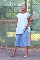 tory burch bag - Celine sunglasses - Jcrew heels - Zara pants - Farrow top