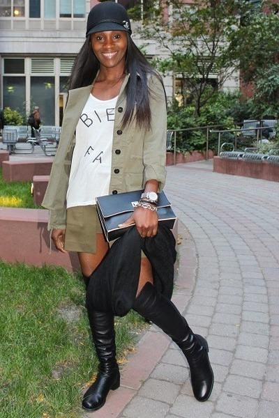 Zara jacket - stuart weitzman boots - Gucci scarf - PROENZA SCHOULER bag