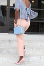 French-blue-colored-bag-pink-and-gold-sunglasses-pink-colored-heels
