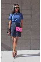 Jcrew skirt - PROENZA SCHOULER bag - madewell top - Jcrew heels