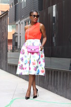 LuLus skirt - PROENZA SCHOULER bag - Prada sunglasses - banana republic blouse
