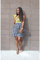 Yves Saint Laurent bag - banana republic skirt - Jcrew heels - Zara top