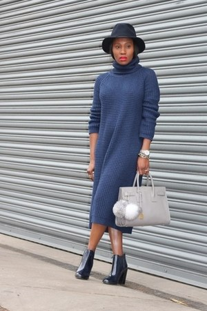Zara boots - BDG dress - Jcrew hat - Yves Saint Laurent bag