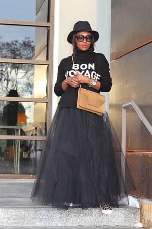 madewell sweater - Yves Saint Laurent bag - Tulle skirt - coach sneakers
