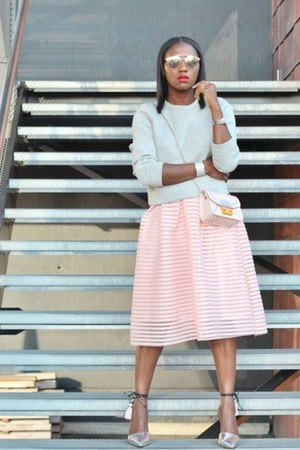 Furla bag - dior sunglasses - Chicwish skirt - Jcrew top