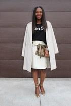 Jcrew skirt - madewell sweater - Gucci bag - Jcrew heels