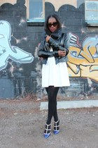 balenciaga dress - Veda jacket - Prada sunglasses - Valentino heels