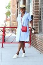Trenton shoes - madewell dress - Janessa Leone hat - ALC bag