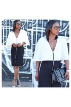 French Connection dress - Chanel bag - Tom Ford sunglasses - JCrew heels