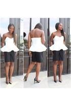 Top top - shorts shorts - heels heels