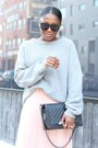 Banana-republic-sweater-chanel-bag-karen-walker-sunglasses-sheinside-skirt