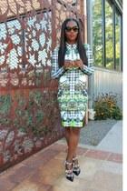 Clover Canyon dress - Sophia Webster heels - Prada glasses