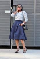 asos sweatshirt - Chanel bag - Tom Ford sunglasses - Valentino heels