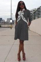 Alexander McQueen scarf - banana republic dress - Gucci heels
