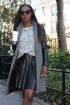 Zara jacket - Rebecca Taylor sweater - Prada sunglasses - Miss Wu skirt