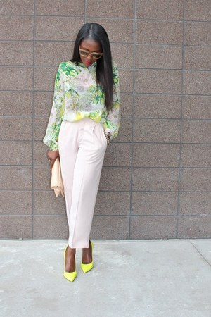 Celine bag - Topshop pants - Valentino heels - Zara top