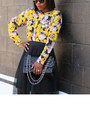 Black-patent-shoes-chanel-bag-black-sunglasses-mesh-skirt-floral-blouse